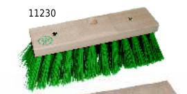 grüner besen